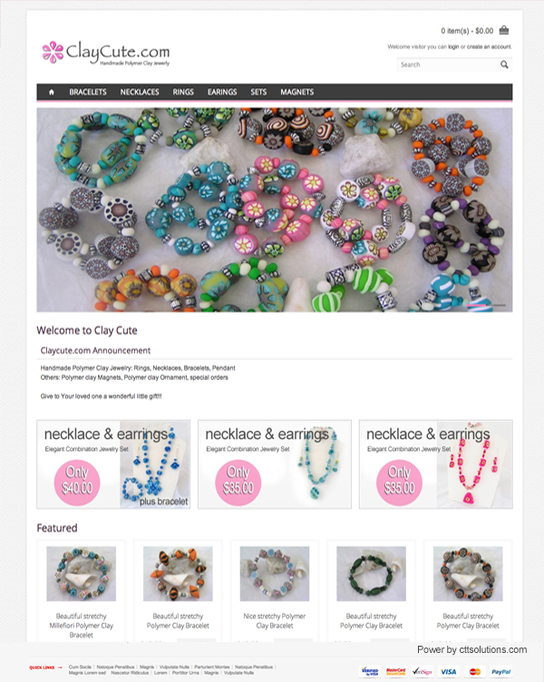 clay cute jewelry wholesale store by cttsolutions web designer in Miami