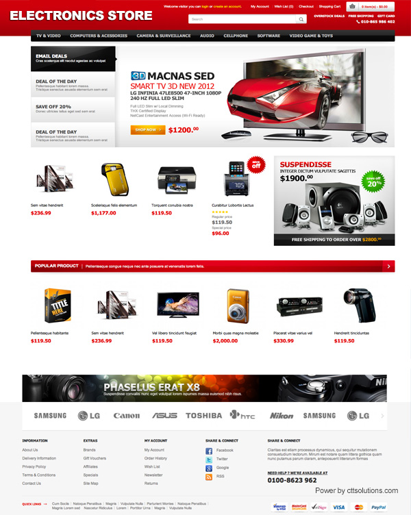 web templates-electronics