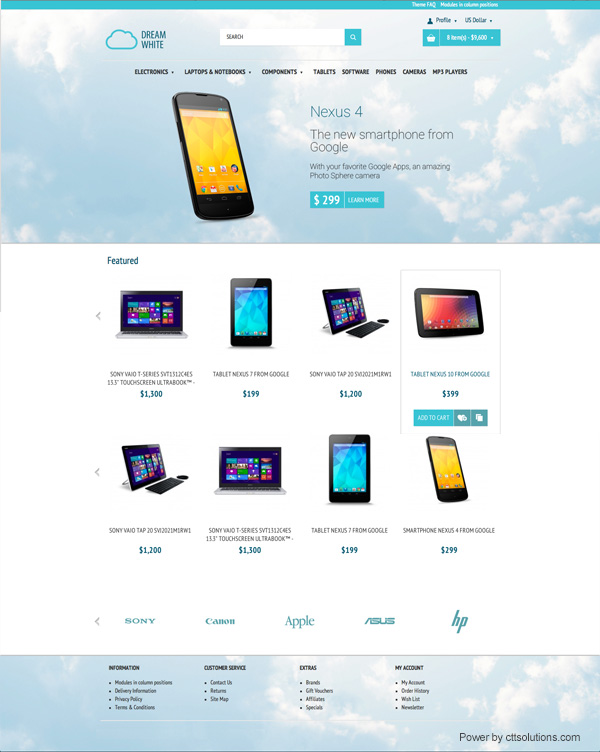 tablets, tabletas store by cttsolutions web designer in Miami