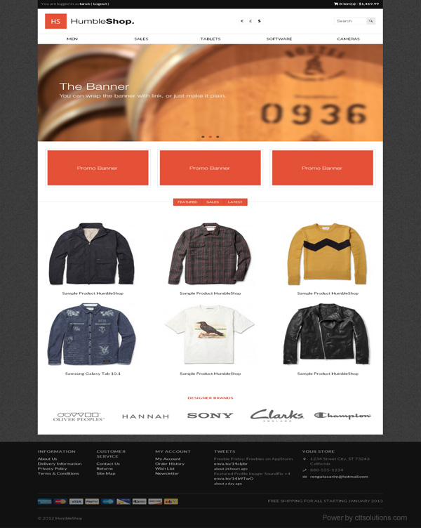 wear store by cttsolutions web designer in Miami